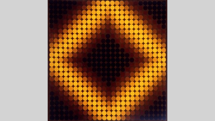 Mobilier national Tapis Victor Vasarely